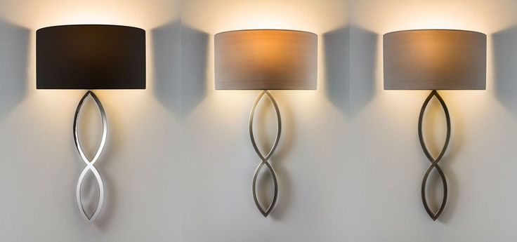 Astro Caserta fabric shade stylish wall light 60W E27 chrome nickel bronze | eBay