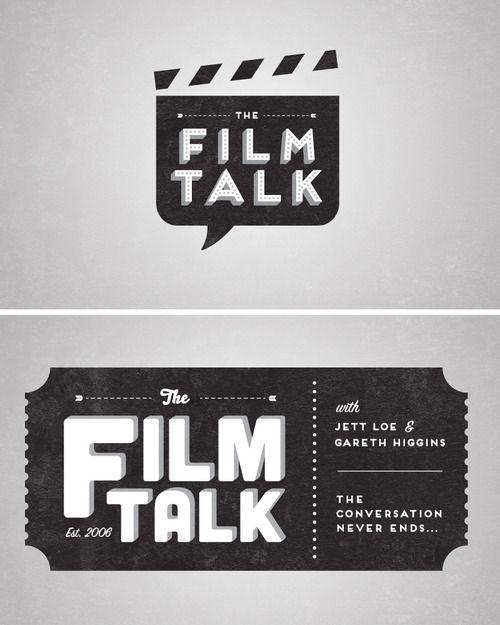 rawbdz:    Logo & t-shirt designs for The Film Talk podcast.  More at www.patrickfloyd.com