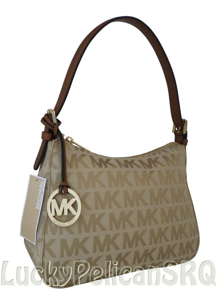 MICHAEL KORS Signature MK Canvas Small Shoulder Bag ...