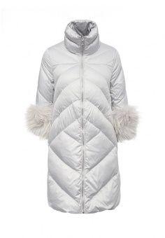 Пуховик, Odri, цвет: серый. Артикул: OD001EWLWT09. Женская одежда / Верхняя одежда / Пуховики и зимние куртки