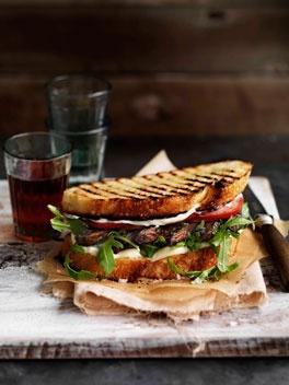 Garlic portobello mushroom sandwich, with fresh crusty sourdough, rocket  lashings of mayonnaise