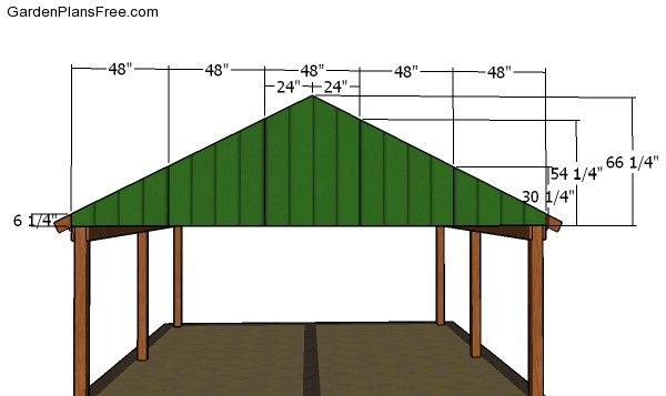2 Car Carport Plans Free Pdf Download Free Garden Plans How To Build Garden Projects Carport Plans 2 Car Carport Carport