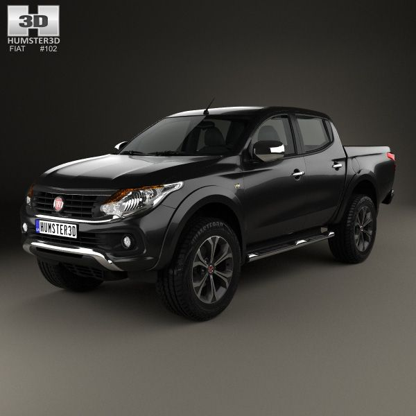 Fiat Fullback Double Cab 2016 3d model from humster3d.com.