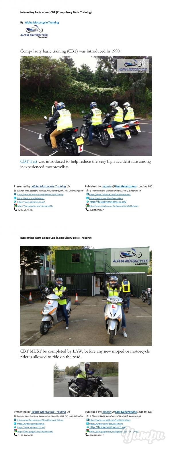 This Guide is prepared to help Motorcycle Learners and the core purpose of preparation of this guide is to help young motorbike learners pass their Motorcycle Tests including DAS (Direct Access Course), CBT (Compulsory Basic Training) and Motorcycle Theory Test.