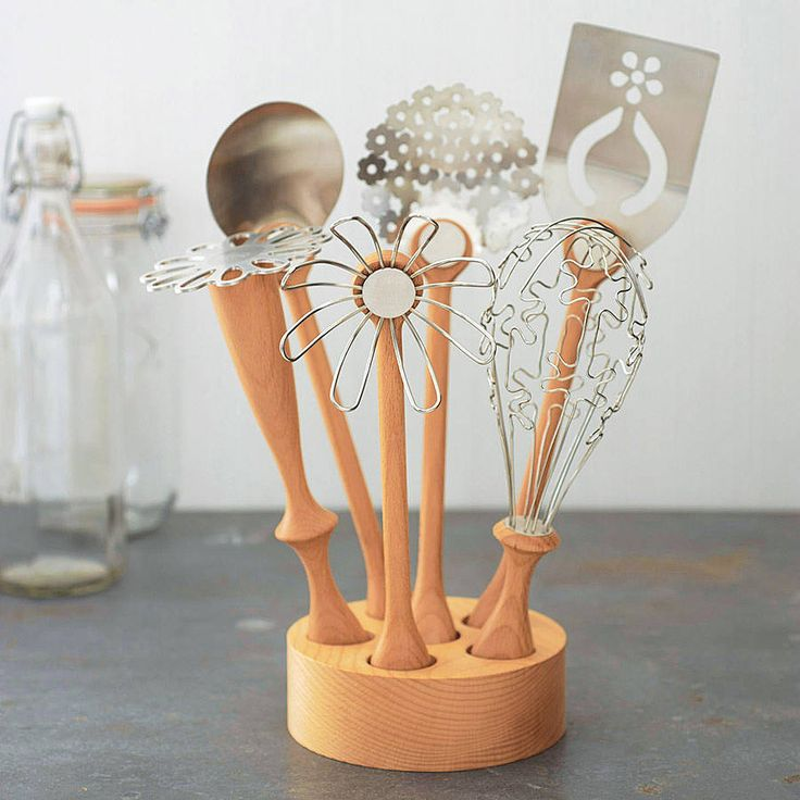 really gorgeous!!! wild flower utensil set by bojje | notonthehighstreet.com