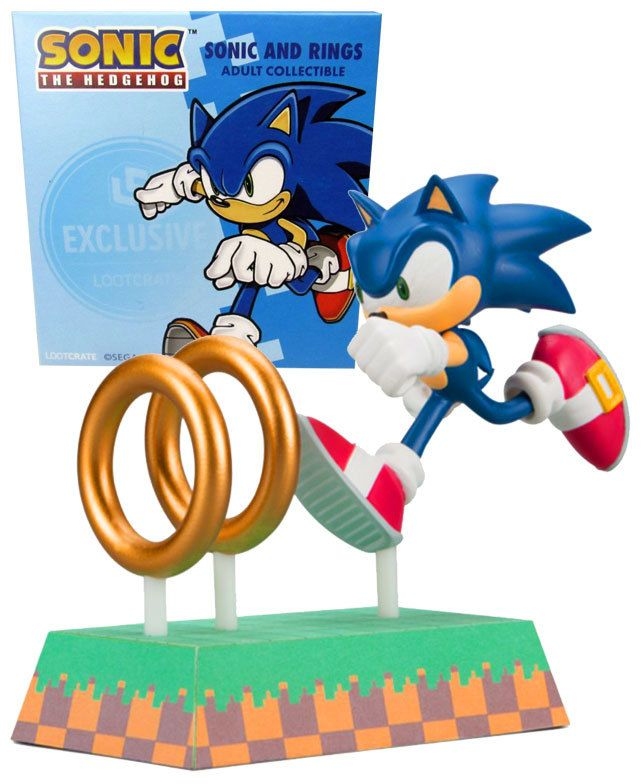 Sonic The Hedgehog And Rings Collectible Figure Loot Crate Exclusive New Mint Condition Sonic The Hedgehog Hedgehog Sonic