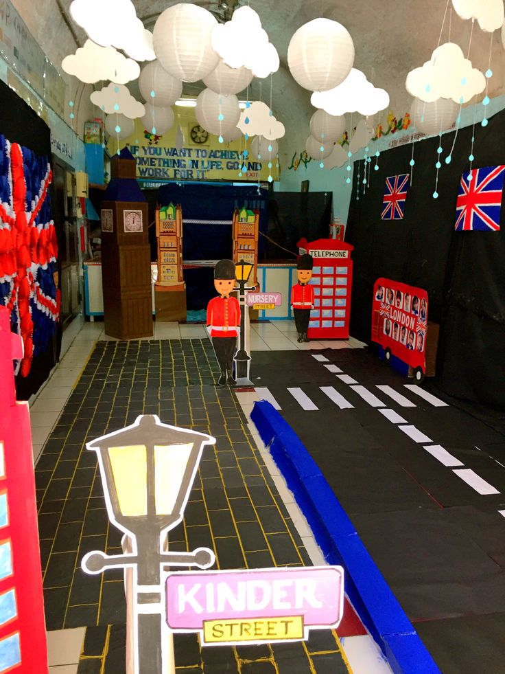 London themed Preschool classroom