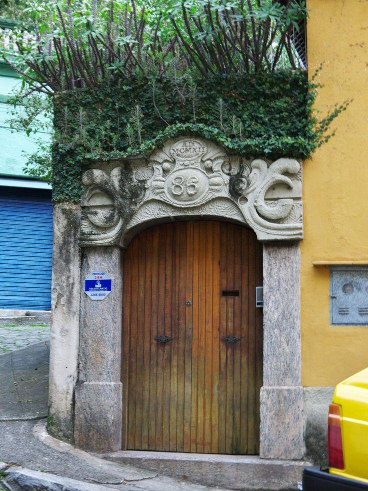 Gate, narrow street,Cosme Velho district,Rio de Janeiro,RJ