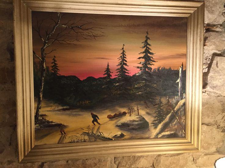 Quebec Folk Art Painting