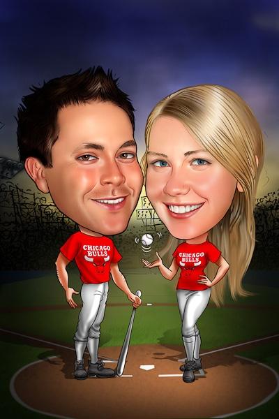 Baseball caricature from www.DrawMe.com.au