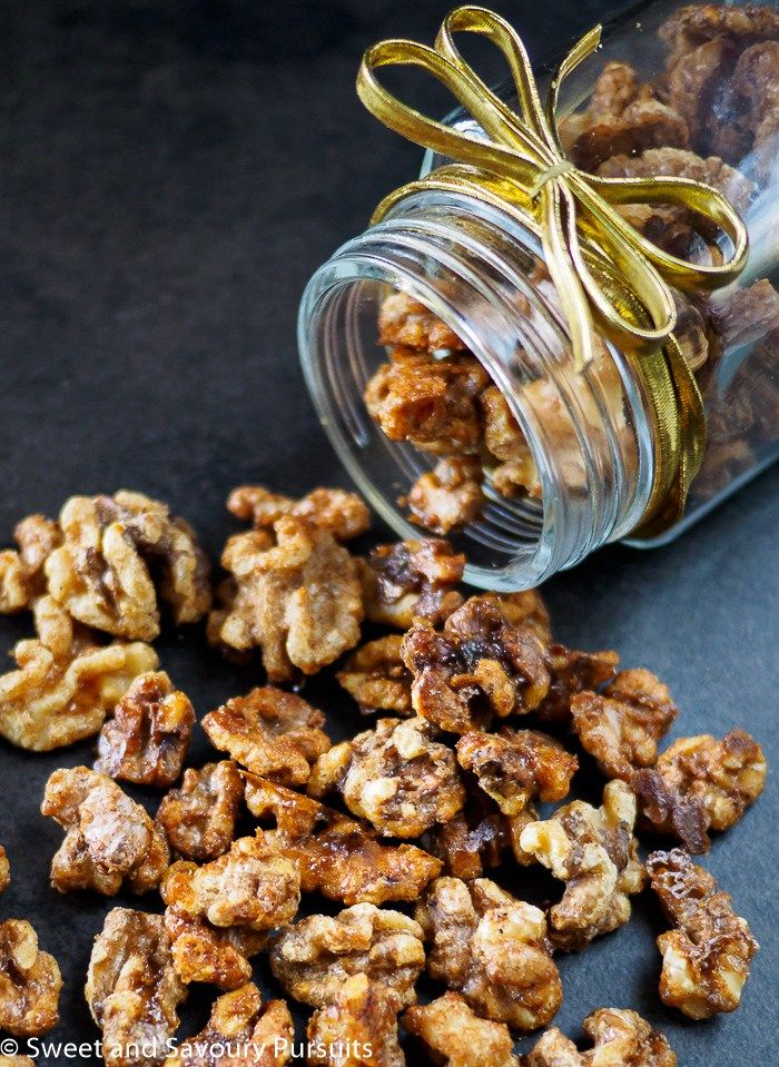 These Maple Spiced Walnuts make a wonderful host or hostess gift!