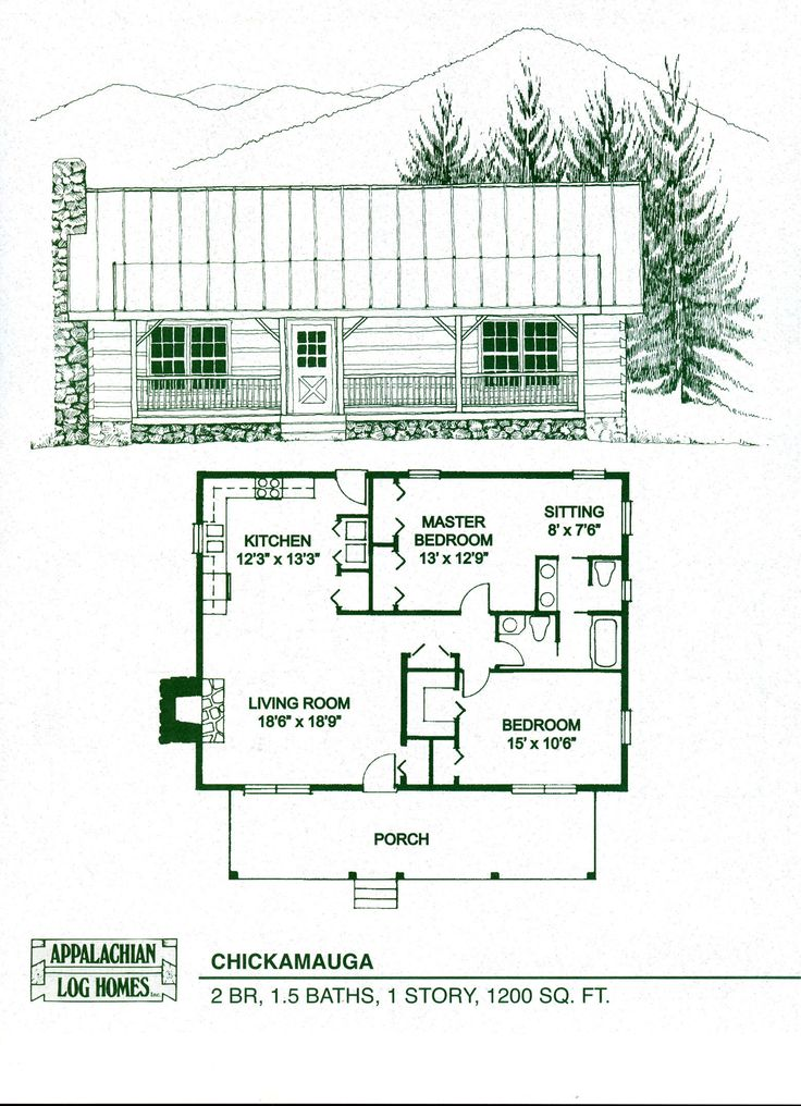 Cottage home kits woodworking projects plans for Log cabin home floor plans