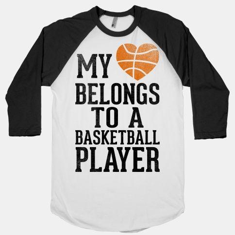 My Heart Belongs to a Basketball Player (Baseball Tee)