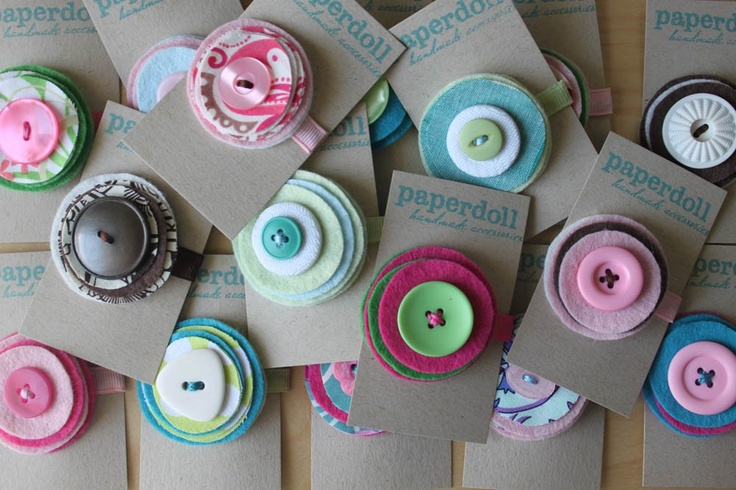 Little girl hair clips  - Surprise Pack - Mix and Match Felt and Fabric Hair Clips - handmade hair accessories for girls and toddlers. $30.00, via Etsy.