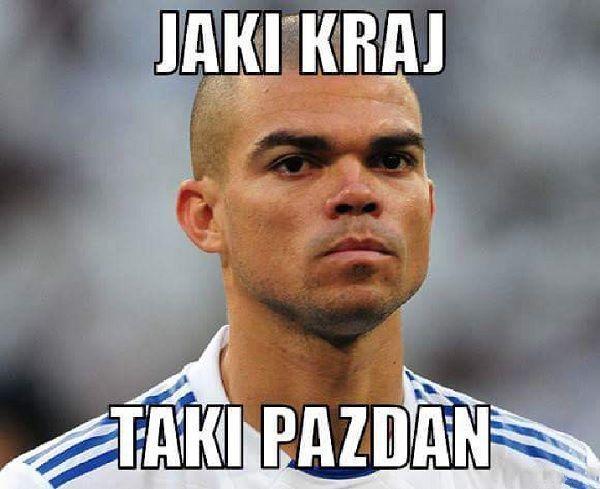 Pepe z Portugalii czyli jaki kraj taki Michał Pazdan • Śmieszne memy piłkarskie po meczu Polska Niemcy • Wejdź i zobacz więcej >> #pol #polska #memy #pilkanozna