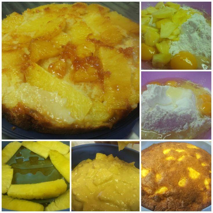 Eccovi l'idea perfetta per fare meranda! Torta capovolta all'ananas! http://pomponetteincucina.cucinare.meglio.it/torta-allananas-rovesciata/