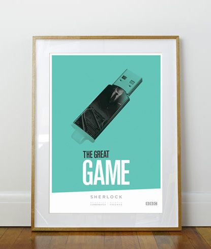 sherlock print the great game home decor 11 x 17 a3 ribba 290 x 390mm