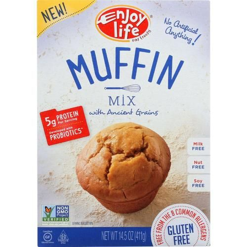 Rise and shine! You don't have to get up at the crack of dawn to enjoy fresh free-from muffins. Just add water and oil to our ready-to-use mix, and breakfast is looking berry nice. Product Free-From: