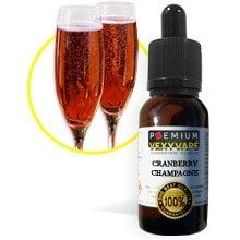 Cranberry Champagne By VexyVape eLiquid - Premium Steeped eliquid Made in Canada!Cranberry Champagne has a crisp, slightly tart cranberry flavour with enjoyable undertones of a light champagne. This is the perfect choice for those looking for a tarter fruit flavour.*NEW* Now Available in VG 70%from Canada, same as US Rates.