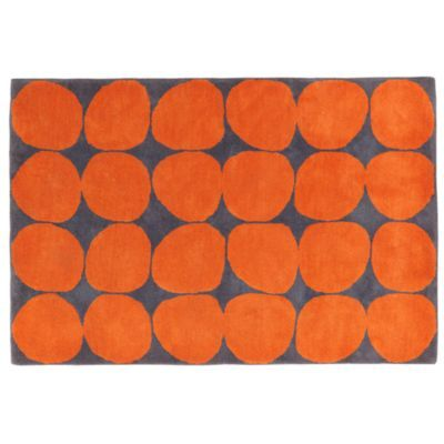 Ink Spot Rug (Orange) Also really fun in orange - one of my fav colors. Could this work with the Rysom rocker done in charcoal?