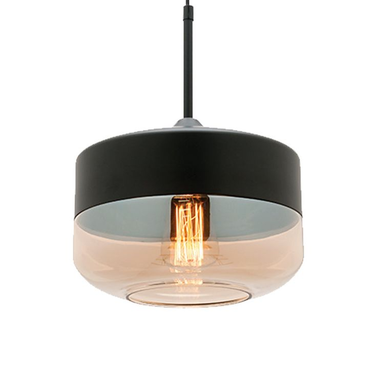 Mercator Kora Amber Tinted Glass Pendant Light - MG8131