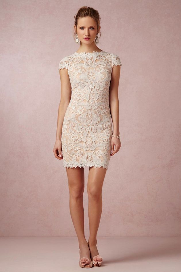 The perfect little white lace dress for a bridal shower/bachelorette party!