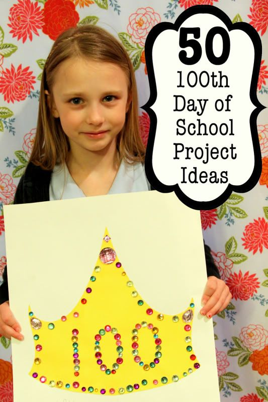 Check out 50 Ideas for the 100th Day of School Projects from LikeMomAndApplePie. Her list is creative and amazing! @ClarendonMoms.
