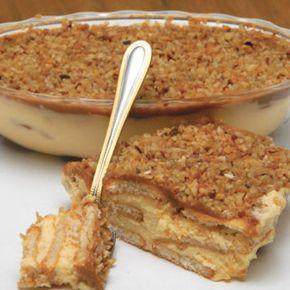 Receita de Pavê de Amendoim - 250 gr de margarina, 250 gr de açúcar,  4 gemas, 2 lata(s) de creme de leite, 500 gr de amendoim torrado(s), baunilha, 2 pacote...