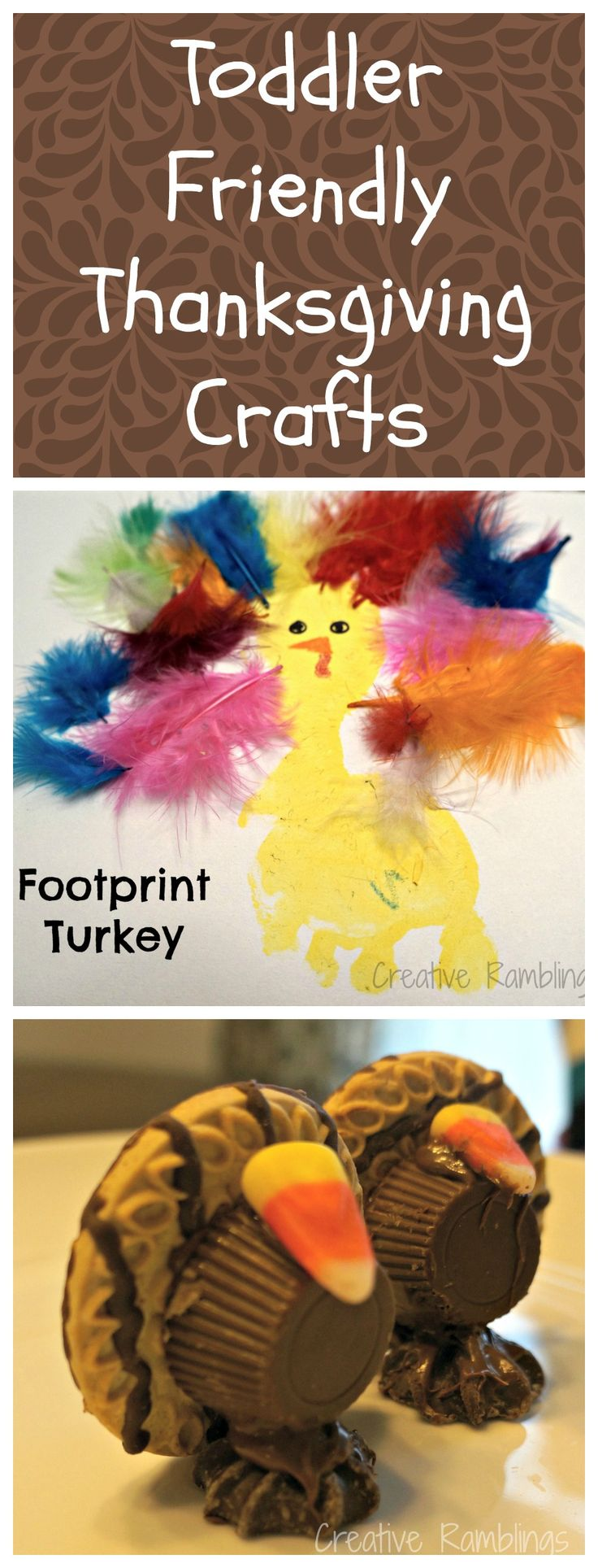 Toddler Friendly #Thanksgiving Crafts // creativerambingsblog.com
