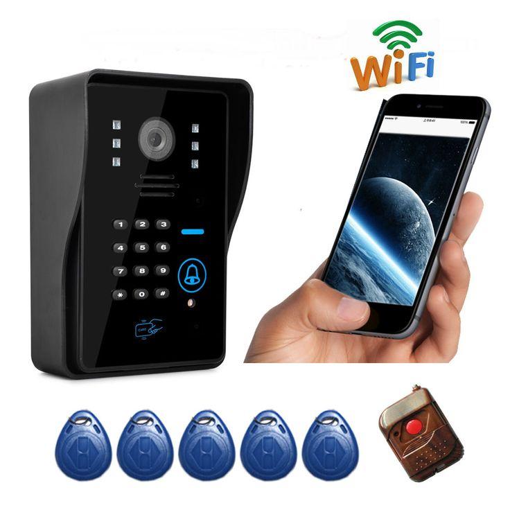 FreeShipping New Arrival Apartment Wifi Video Door Phone Wireless Intercom Wifi Doorbell Support Motion Detect Alarm