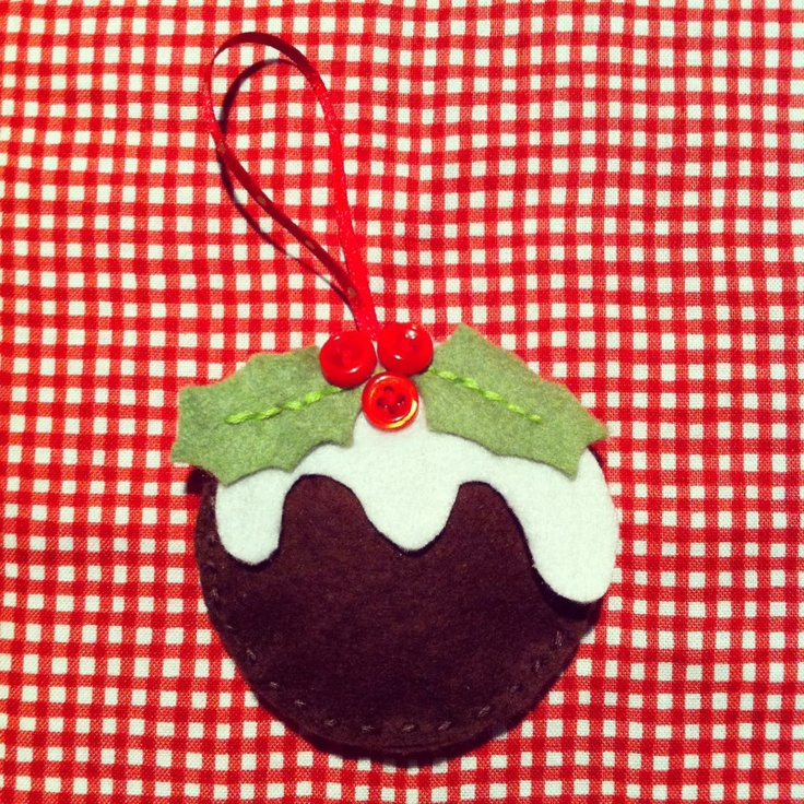 Home made Crimbo Pud decoration for your Christmas Tree. Visit http://www.facebook.com/KittyAndTiz to find out how to buy