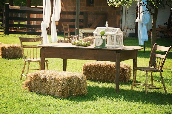 haystacks as benches
