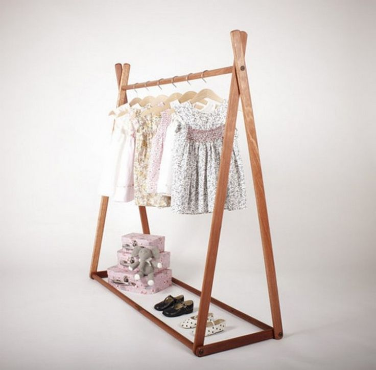 Diy Child Clothes Rack: Clothing Displays, Nursery