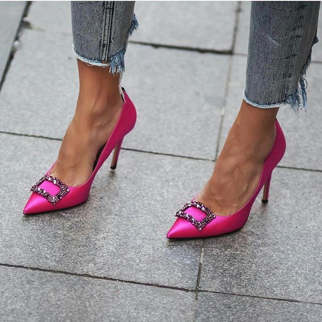 Like the heels. Enough with the torn jeans!