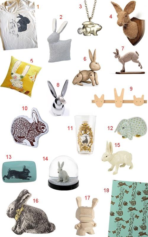 44 Bunny Rabbit Accessories and Decor