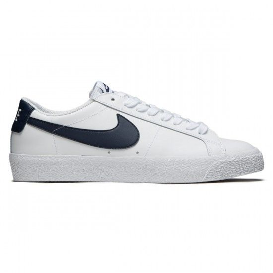 aa2c5ff5675c Nike SB Air Zoom Blazer Low Shoes - White Obsidian - 6.0