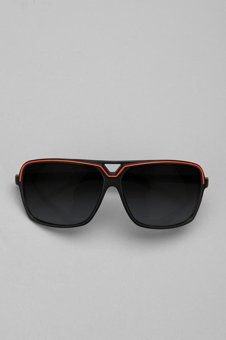 Ultra Top Stripe Aviator Sunglasses