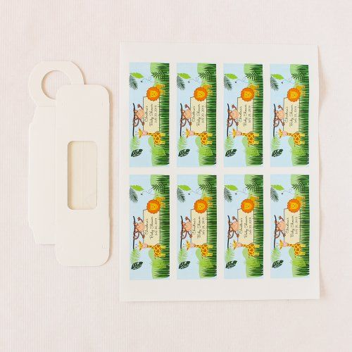 Unassembled Hanger Favor Boxes with Personalized Labels