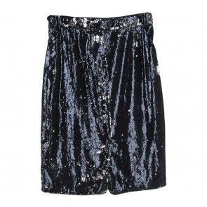 Black Sequins Mini Skirt