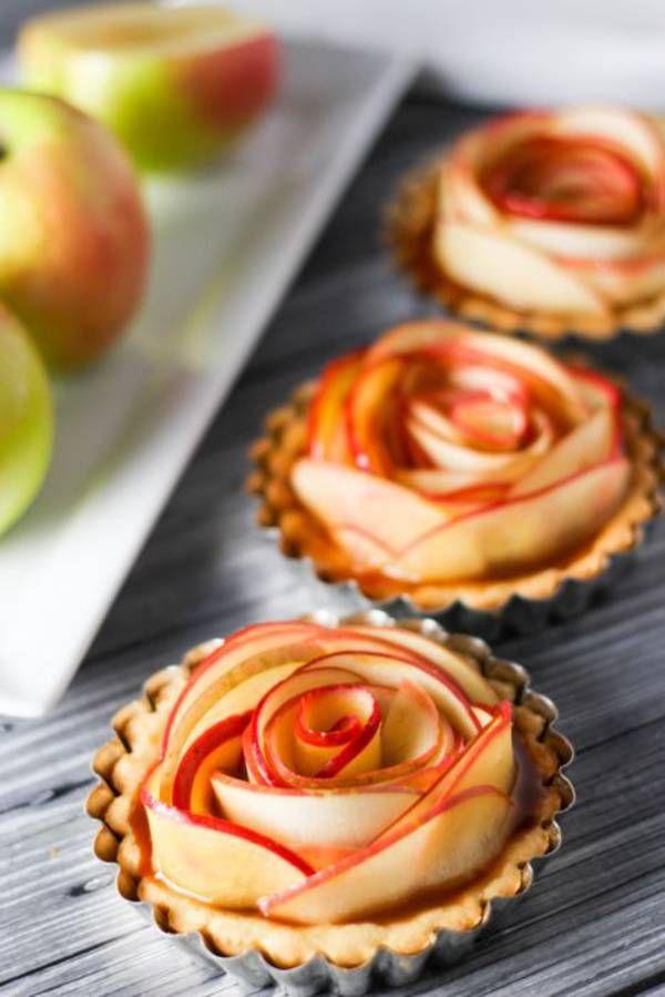 Tartelettes fleur pomme caramel