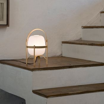 Santa & Cole's Cestita table lamp, designed by Miguel Milá