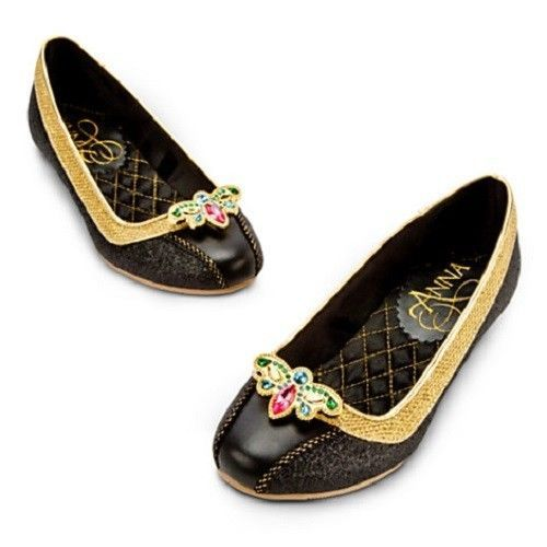 Disney Store Frozen Anna Coronation Costume Shoes Size 13/1 NWT