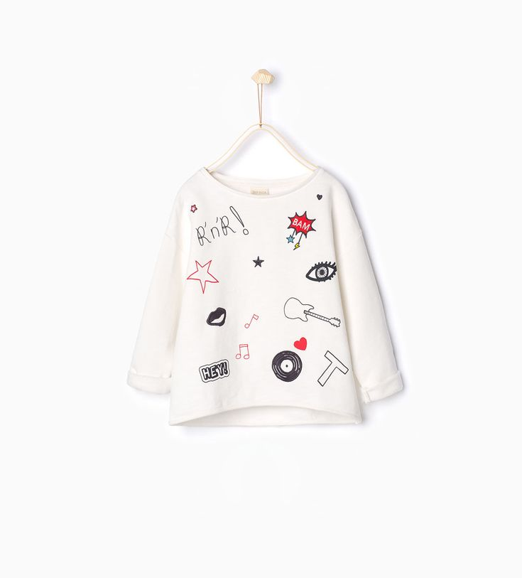 Shiny sweatshirt-Sweatshirts-Girl (4-14 years)-KIDS | ZARA United States