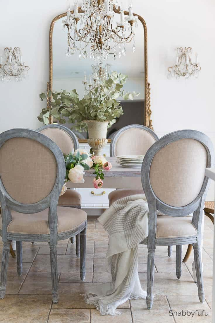 French Style Furniture And Chandelier Updates Dining Rooms