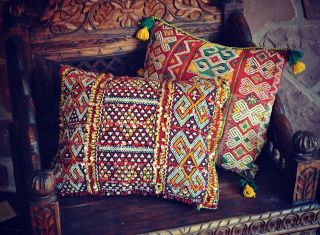 Beyond Marrakech, Vintage Berber Kilim Cushions
