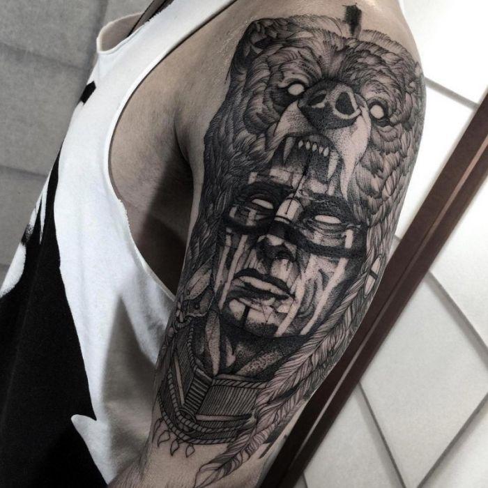 1001 Ideen Fur Ein Oberarm Tattoo Die Besten Designs Wolf