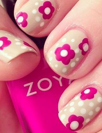The fuchsia and polka dots create a fun '70s vibe