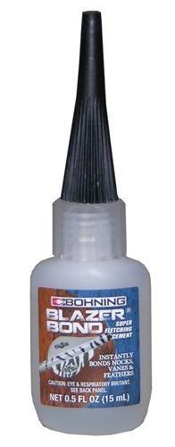 Bohning blazer bond Fletching Adhesives 1/2 Oz bottle