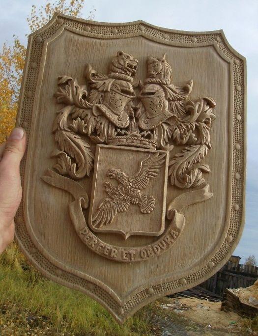 Резное.ру - герб, Материал: ..., Размеры: ....