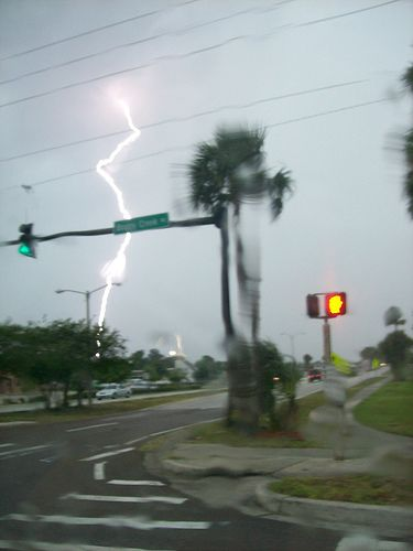 Lightning Taken From A Car Window - Kissimmee, Florida